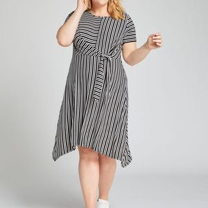 NWT Striped Tie-Waist Fit & Flare Dress